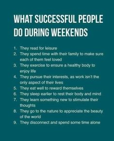 Think Successful People Work During Weekends, But The Truth Isn't. The key to success is rather surprising, but makes a lot of sense. // Career Advice & IdeasThe key to success is rather surprising, but makes a lot of sense. Life Advice, Good Advice, Career Advice, Life Tips, The Words, Vie Motivation, Weekend Motivation, Motivational Quotes, Inspirational Quotes