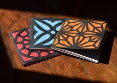 Design de Baunilha: Caderninhos Cobogó Handmade Books, Book Binding, Book Making, Awesome Things, Notebooks, Albums, Stationary, Diy, Boxes