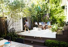 Love the breeze block    Garden designer Adam Robinson helps a Sydney family transform their neglected back yard into the perfect outdoor living spaceWriter: Natalie WaltonPhotography: Natalie HunfalvayStyling: Adam Robinson
