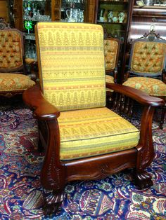 Charming SOLD   Claw Foot Morris Chair U2013 JD DESIGN AND ANTIQUES, LLC