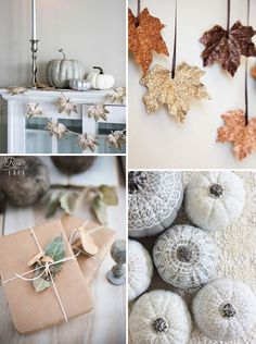 10 DIY Ideas For Autumn Decor! http://www.rosesandlace.co.uk/diy-10-autumn-decor-ideas/