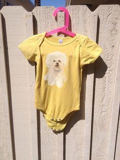 Bichon Frisee Baby Bodysuit  Organic Cotton  by RandomOasis