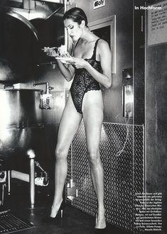 Yasmeen Ghauri by Wayne Maser for Vogue Germany, 1995