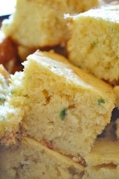 Jalepeno Cheddar Cornbread, would be delish with a big bowl of chili