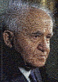 Mosaic of David Ben-Gurion