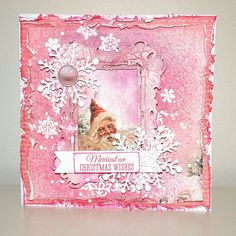 KC-Sept-Silver Bells-Christmas-Wishes-Card- Belinda Spencer Pink Christmas, Christmas Images, Christmas Wishes, Christmas Ideas, Favorite Christmas Songs, Snowflake Cards, Christmas Cards, Christmas Ornaments, Scrapbooking Layouts