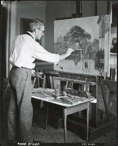 'Ashcan school' painter John Sloan in his studio.