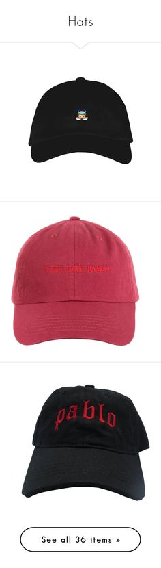 """""""Hats"""" by nazarahwiggins on Polyvore featuring accessories, hats, caps, accessories - hats, baseball hats, crown hat, crown cap hats, dome cap, crown cap and cotton hat"""