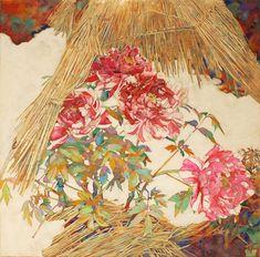 清水 航 アーティスト   横浜、六本木   Fukasaku ART MUSEUM & GALLERY Japanese Art Styles, Oriental, Peony Print, Japan Art, Art Boards, Peonies, Beautiful Flowers, Art Deco, Paintings