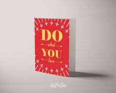 Do what you love Life Quote Customized Greeting Cards - 3.5 x 5 / Felt Press Matte / 10 Pack of Cards