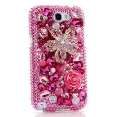 Items similar to Samsung Galaxy Note Edge / All iPhone Model - Handcrafted Case Cover Luxury Bling Crystal Sparkle Rose Cherry Pink on Etsy Bling Phone Cases, Ipod Cases, Samsung Note 3, Samsung Galaxy, Galaxy S3, Iphone Models, Pink Flowers, Iphone 6, Sparkle