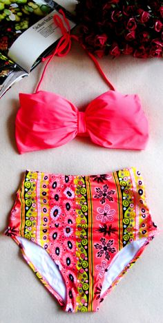 High waist swimsuit bikini