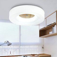 BBC runde Schlafzimmer Deckenleuchte Lampen Chinesischen meldet 12-Licht minimalistischen modernen skandinavischen LED-Leuchten, Kinderzimmer Durchmesser 43CMLED - warmes Licht Ikea, Blinds, Modern, Ceiling Lights, Curtains, Lighting, Bbc, Home Decor, Bedroom