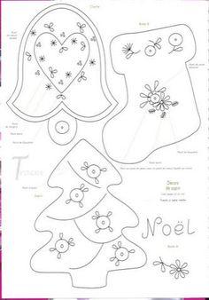ARTE COM QUIANE - Paps,Moldes,E.V.A,Feltro,Costuras,Fofuchas 3D: Artesanato de Natal