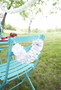 Super cute outdoor wedding chair decorations