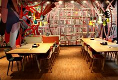 Citizen M boutique hotel Southbank London design trendy table Dying to see it live