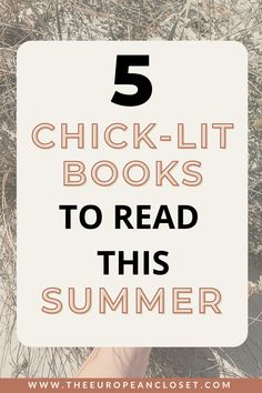 Today I've gathered 5 of my favorite books I've read this year that I think are the best beach reads for this Summer. They are those kinds of books that you will just read in one sitting without much thought. Those are the best ones in my opinion.