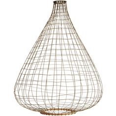 Madam Stoltz Bamboo & Bronze Wire Pendant Shade ($59) ❤ liked on Polyvore featuring home, lighting, bamboo shades, copper wire lights, bamboo shade, bamboo lighting and bamboo lamp