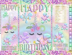Printable Potato Chip Bags | Unicorn Slime Pastel Blue Mint Green Pink Lavender Birthday Favors Birthday Drinks, Birthday Favors, Birthday Party Themes, Pastel Blue, Pink, Printable Water Bottle Labels, Brochure Paper, Baby Shower Favors Girl, Chip Bags