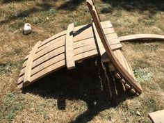 Wine Barrel Adirondack Chair : 10 Steps (with Pictures) - Instructables Wine Barrel Diy, Wine Barrel Chairs, Whiskey Barrel Furniture, Whiskey Barrels, Rustic Furniture, Lawn Furniture, Handmade Furniture, Furniture Plans, Furniture Design