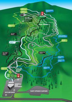 Rotorua Bike Park Trail Map (30%green;40%blue;30%black)