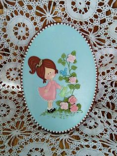 Girl watering her summer roses decorated iced cookies | Cookie Connection  / Cookie Art