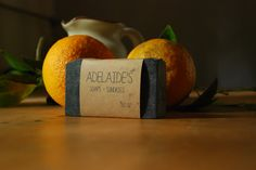 Charcoal Blood Orange Goat Milk Soap by Adelaidesoaps on Etsy