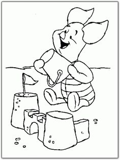 pet shop coloring pages printable | Piglet Love Coloring Pages For Kids. Free Online Printable Pictures