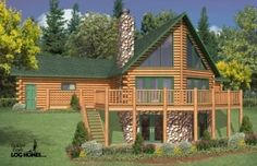 Golden Eagle Log Homes - Yellowstone - 1,872 square feet  You can go to log home shows, different log home manufacturers, or log home dealers and look through hundreds of log home plan books and never find your perfect plan. For some people, the Eagle Prow 4 has the perfect floor plan.  See plan at: http://www.logcabindirectory.com/loghome_floorplans/goldeneagle/eagle_prow_4.html