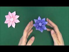 Origami Gerbera Tutorial - How to make Paper Gerbera flower - YouTube