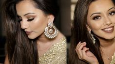Kaushal Beauty - loving the gold eyeshadow and brown lips combo