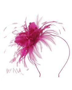 """""""Analise"""" Bright Pink Fascinator."""