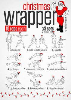 Christmas Wrapper Workout Plan - Healthy Santa Fitness Training - PROJECT NEXT - Bodybuilding & Fitness Motivation + Inspiration Training Motivation, Fitness Motivation, Daily Motivation, Fitness Tips, Motivation Inspiration, Fitness Inspiration, Christmas Wrapper, Hero Workouts, Movie Workouts
