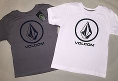 BOYS 2 2T VOLCOM STONE T SHIRT LOT OF 2 NWT