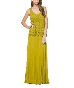 Kiwi Yellow Crochet Convertible Maxi Dress #zulily #zulilyfinds
