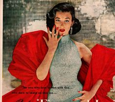 vintage pinup flirt with fire 1952 advertisement by FrenchFrouFrou, $12.95