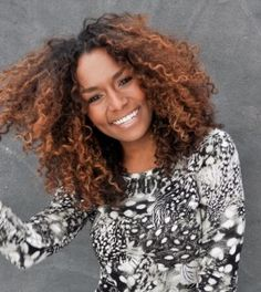 Love her curls and the color. Beautiful!!