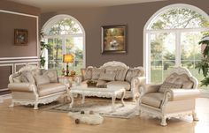 Acme Dresden Antique White Sofa- 53260 in $1498