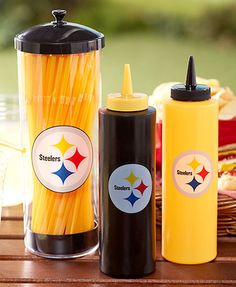 The NFL Condiment and Straw Dispenser set is an essential addition to your game day get-together. Each piece features your favorite team& colors and logo Here We Go Steelers, Steelers Stuff, Straw Dispenser, Leo Birthday, Football Gear, Steeler Nation, Pittsburgh Steelers, Event Decor, Nfl