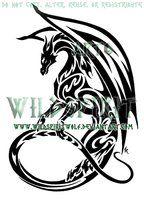 Maned Dragon Tribal Tattoo by *WildSpiritWolf on deviantART