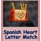 Help your Spanish speaking students learn beginning vowel sounds with these cute heart letter matching cards. $3
