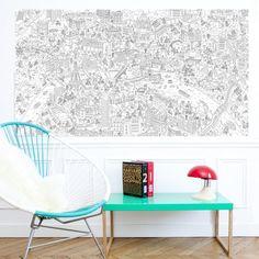 Coloriage super géant P'tit Vélib' 1,8 x 1 m / 19,90€