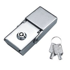 Power distribution cabinet toggle latch lock