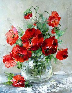 Мобильный LiveInternet Я любуюсь совершенством цветов... Художница Оксана Кравченко. | Лена_Солнышко - Дневник Лена_Солнышко |