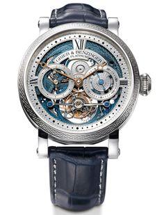Grieb & Benzinger BLUE MERIT platinum watch