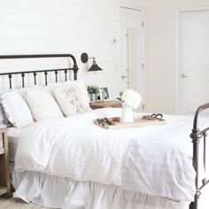 Home // The Best Farmhouse Dining Chairs - Lauren McBride White Brick Walls, Farmhouse Dining Chairs, Home Budget, Kid Closet, Plank Walls, Painting Trim, Upstairs Bathrooms, Farmhouse Lighting, Finding A House