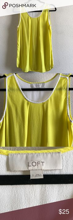 """LOFT Color Blocked Flowy Tank 100% Viscose so it's very buttery and soft. EUC, has stretch and is not see through at all. 18"""" armpit to armpit and 26.5"""" long. This is not a LOFT factory or outlet piece so it's really nice quality too. LOFT Tops Tank Tops"""