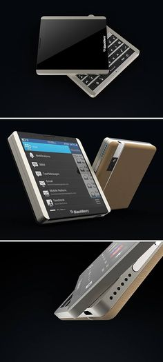 The square-shaped smartphone never caught on, but a look at the BlackBerry L and we might consider it! This BlackBerry beauty captures the brand's bold styling and core features with both a capacitive touch screen and, of course, an iconic QWERTY keyboard that's only revealed by use of a rotary slider.