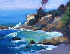 open air Impressionist paintings by Kathleen Robison of landscapes in southern Cal