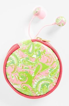 Lilly Pulitzer® 'Chin Chin' earbuds